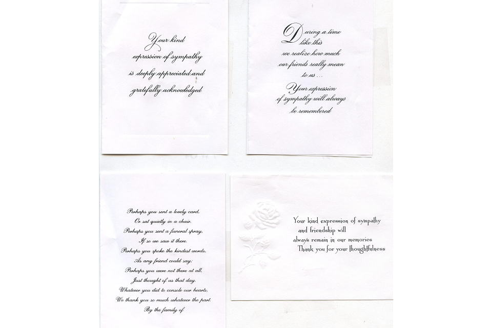 acknowledgment cards funeral home and cremations westford ma